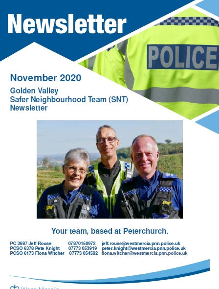 Golden Valley Herefordshire Police Update