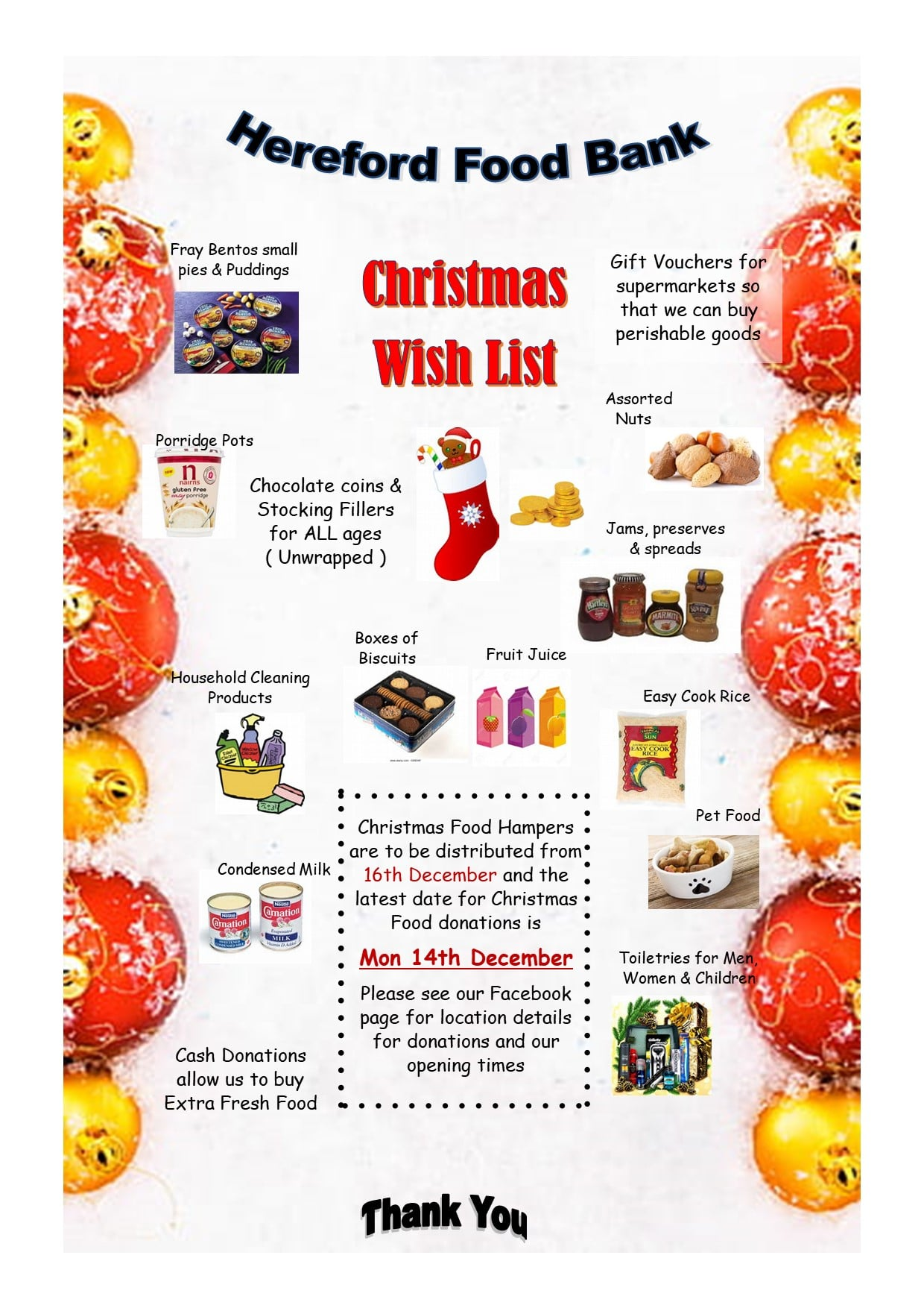 Hereford Food Bank Christmas Appeal