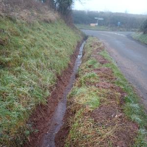 Ditch in Bishopstone, Herefordshire