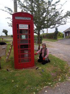 Bishopstone parish telephone box