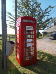 Bishopstone telephone box after painting