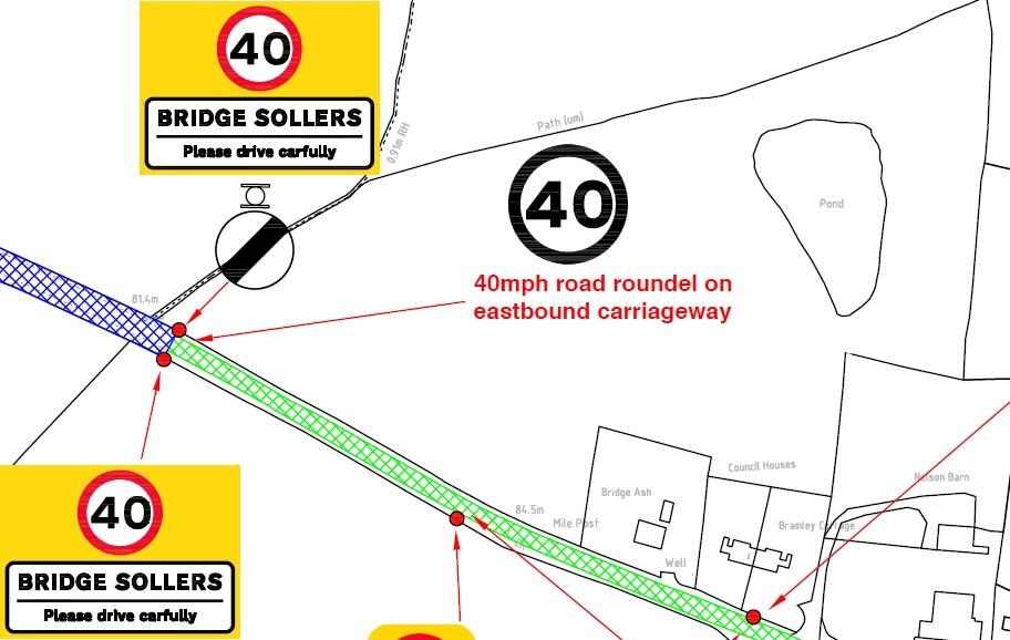 Bridge Sollars proposed 40mph speed limit